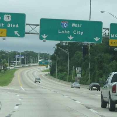 I-10 West At Unsigned Us 17 Alternate In Jacksonville, Florida. Taken August 10, 2003 By Spui.