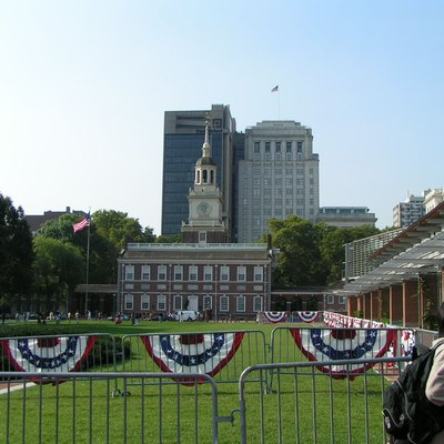 Taken from the path to the building that houses the Liberty Bell.