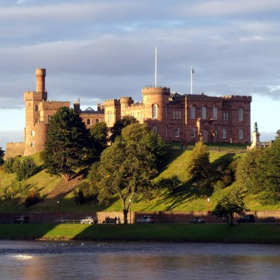 Inverness Castle and River Ness Inverness Scotland