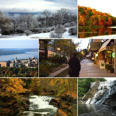 A Montage of the city of Ithaca, NY