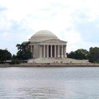 Jefferson Memorial In Washington, Dc, See From Across The Tidal Basin Of The Potomac River
