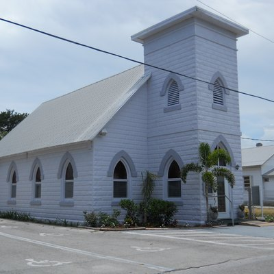 Jensen Beach Christian Church, built 1910-1912, 1890 N.E. Church Street, Jensen Beach, Florida