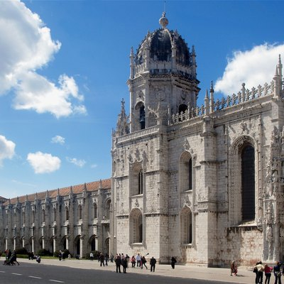 The Monastery of Jerónimos, Lisbon, Portugal.
