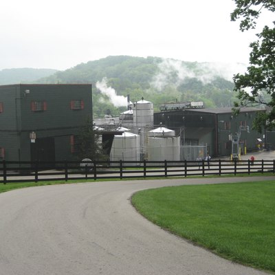 View of Jim Beam distillery from the Beam House.