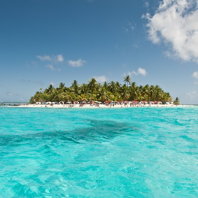 A popular Caribbean tropical portrait: the island of San Andrés.