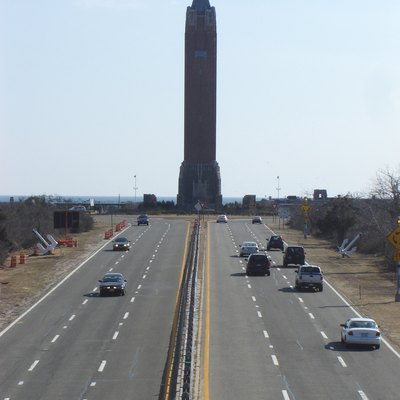 Taken On the Bay Parkway bridge above Wantagh Parkway towards the Jones Beach Water Tower.