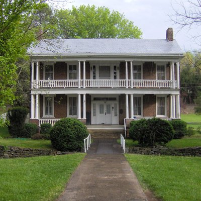 The Cunningham-Clayton House in Jonesborough, Tennessee, in the southeastern United States, built around 1840.