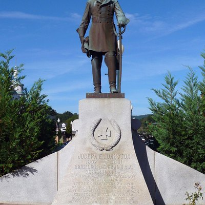 Confederate Gen. Joseph E. Johnston statue in Dalton, Georgia.