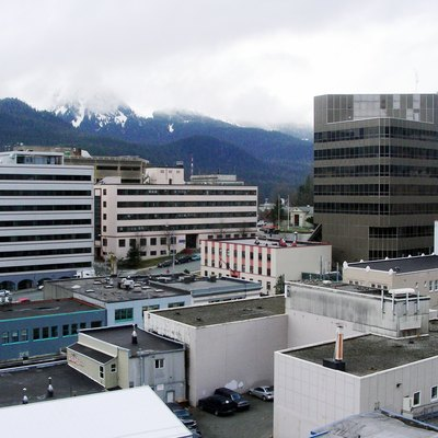 View of downtown Juneau from the Baranoff Hotel, Juneau, Alaska, April 11, 2007
