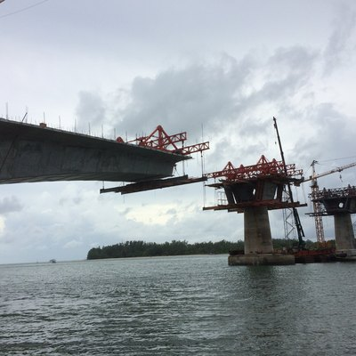 Bridge construction between Ko Lanta Noi and Ko Lanta Yai, August 2015