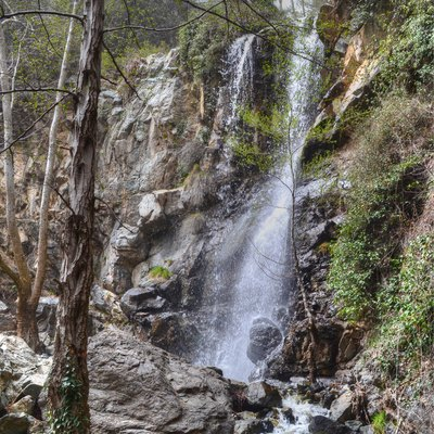 This Waterfall Lacated In Cyprus At Troodos Mountain