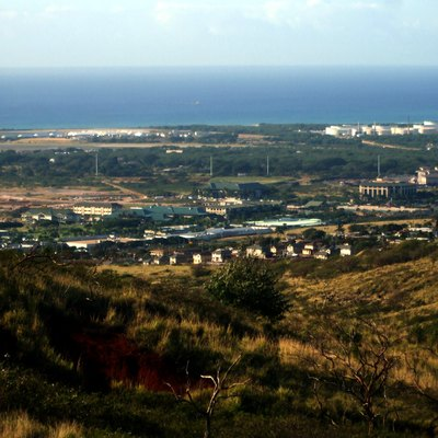 Photo of Kapolei City Center taken from Makakilo Heights on 11 March 2009