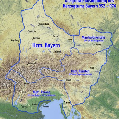 Bavaria in the 10th century