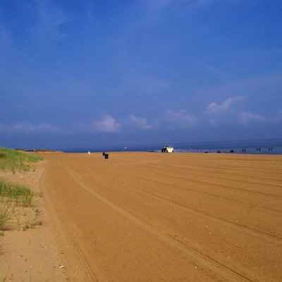 Keansburg Beach early in the morning circa 2005.
