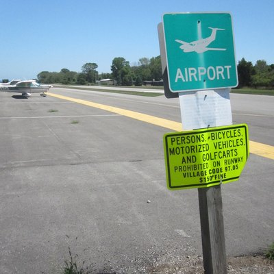 The airport at Kelleys Island, Ohio.