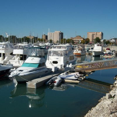 Marina in Kenosha, Wisconsin, USA