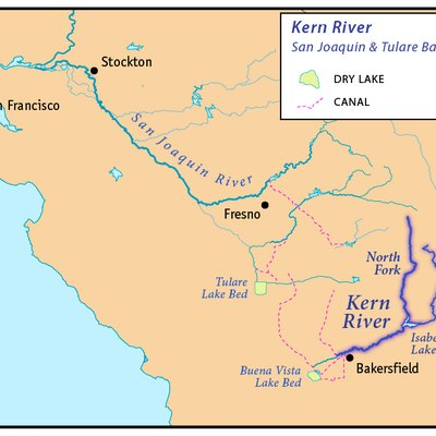 This is a map of the Kern River - Kern County, California.