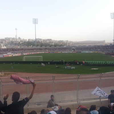 King Abdullah II Stadium in Amman, Jordan, just before the 2014 FIFA World Cup qualifying match Jordan vs. Japan on March 26, 2013