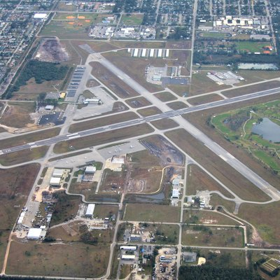 Aerial view of Kissimmee Gateway Airport