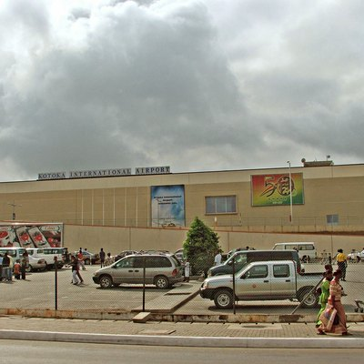 Side shot of Kotoka International Airport in Accra, Ghana
