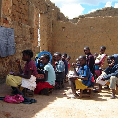 School Class In Kuito, Angola, By Rafaela Printes