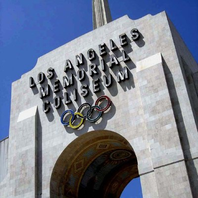 Front gate of the Los Angeles Memorial Coliseum, Los Angeles, CA, USA