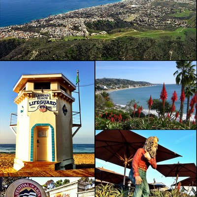 Montage of Laguna Beach photos on Wikimedia Commons