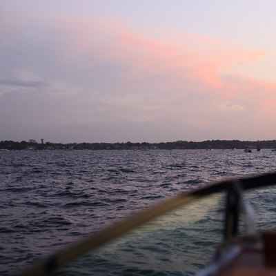 Lake Conroe, as seen from the water on July 4, 2008.