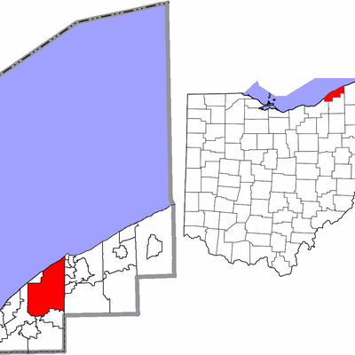 Map highlighting City of Mentor, Lake County, Ohio, United States.