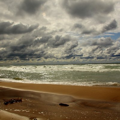 Lake Michigan and the beach, Harbert, Chikaming Twp. Michigan (near Three Oaks)