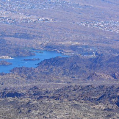 Lake Mohave And Davis Dam Seen From Spirit Mountain, Newberry Mountains, Southern Nevada