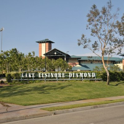 Entrance to the Lake Elsinore Diamond, home to the Lake Elsinore Storm, a minor league baseball team.