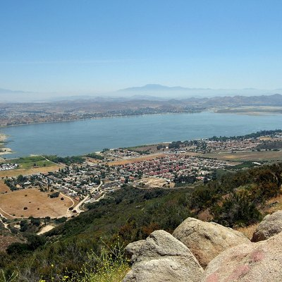 View of Lake Elsinore and surrounding area