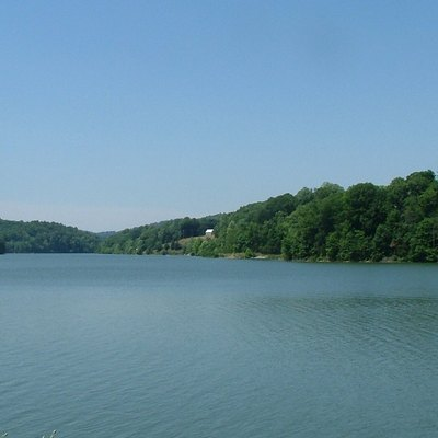 Lake Linville in Southern Kentucky looking west across the lake