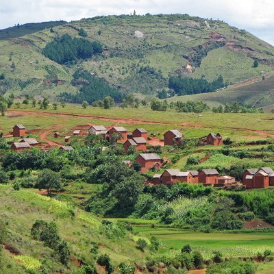 Village in Central Highlands, south of Antananarivo in Madagascar