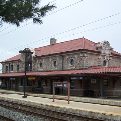 The Lansdale, PA train station built in 1902 for the Philadelphia & Reading railroad. It's now used by SEPTA as a busy commuter rail station.