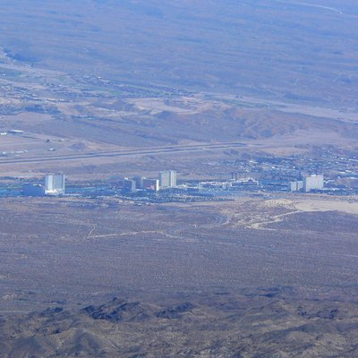 Laughlin, Nevada Seen From Spirit Mountain, Newberry Mountains, Southern Nevada