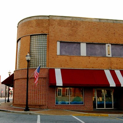 Corner in downtown Lawrenceville, Virginia