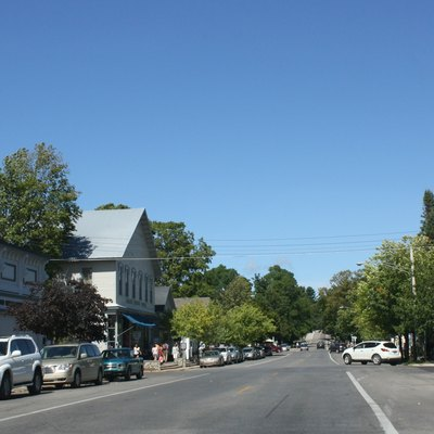 Downtown Leland on M-22