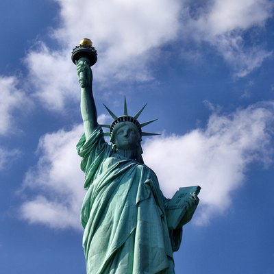 The Statue of Liberty in New York City is a symbol of both the U.S. and the ideals of freedom, democracy, and opportunity.[304]