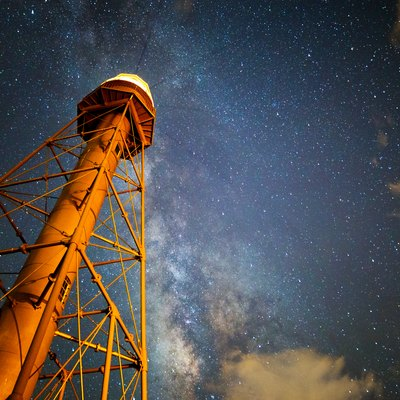 Sanibel Lighthouse with Milky Way above