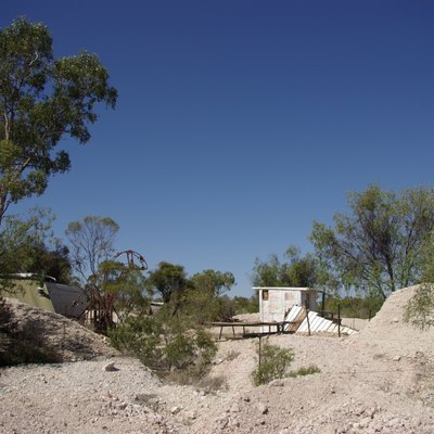 Fossicking field in Lightning Ridge, New South Wales, Australia.