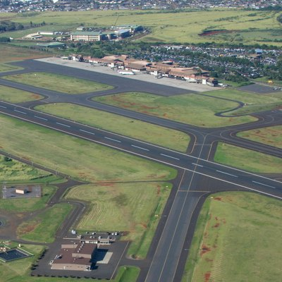 Aerial View Of Lihue Airport