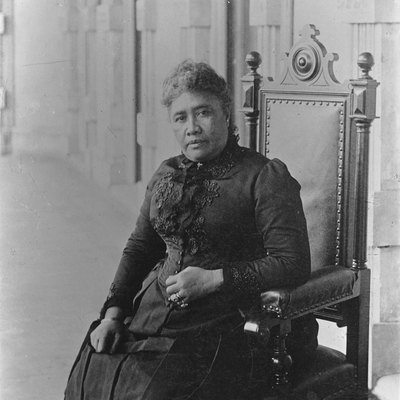 Photo of Liliuokalani taken in 1891 at the beginning of her reign at Iolani Palace [1].