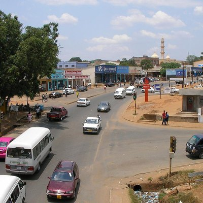 View East Into Area 2 Of Old Town Lilongwe, Malawi. View Is From A Pedestrian Overpass. The Lilongwe River Runs North-South 100 Or 150 Meters Behind The Camera. Altimeter 1055 Meters.