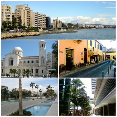 Photo montage of Limassol, Cyprus