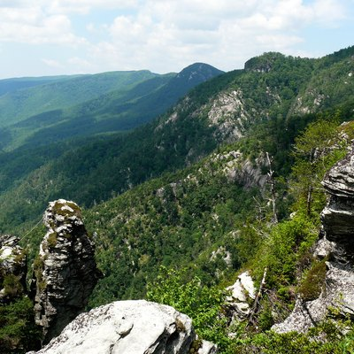 Linville Gorge Wilderness in the Pisgah National Forest.
