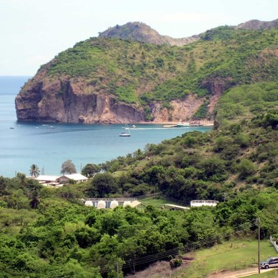 Little Bay, Montserrat, the island's maritime port of entry.