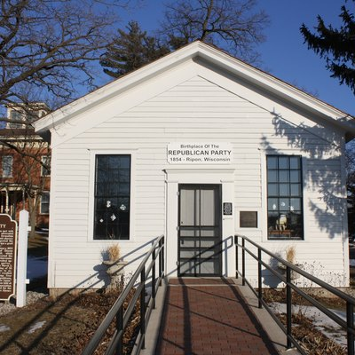 The Little White Schoolhouse in Ripon, Wisconsin, held the nation's first meeting of the Republican Party