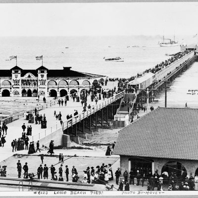 Bird's-eye view of pier, Long Beach.